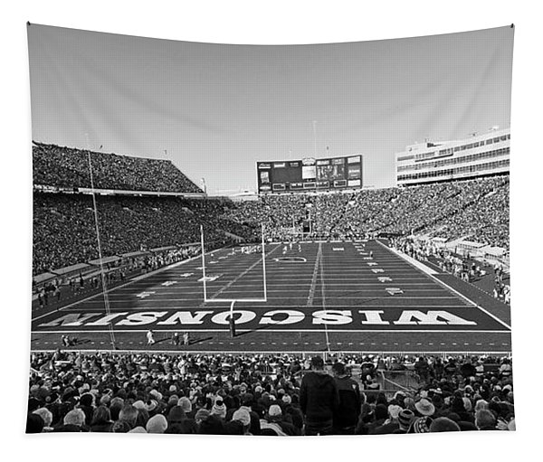 0095 Bw Camp Randall Stadium Tapestry