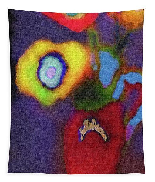 Abstract Floral Art 367 Tapestry
