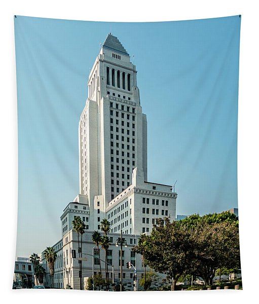 Downtown Skyscrapers Los Angeles California Tapestry
