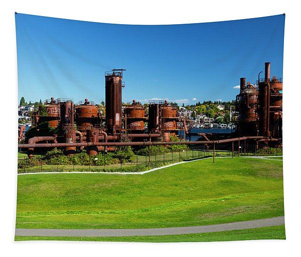 Gas Works Park On Sunny Day, Seattle Tapestry