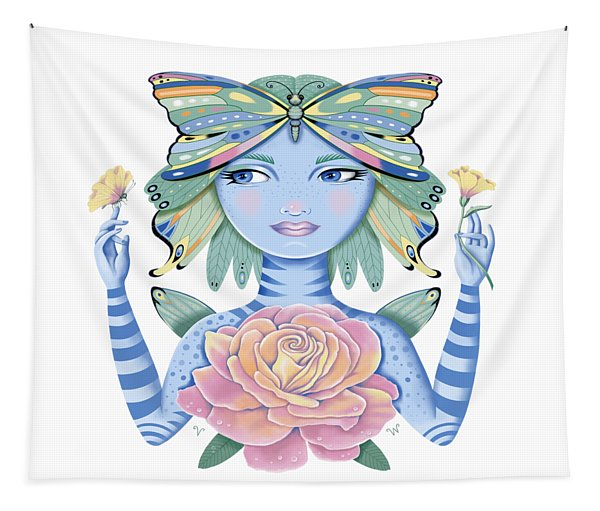Insect Girl, Winga, With Rose Tapestry