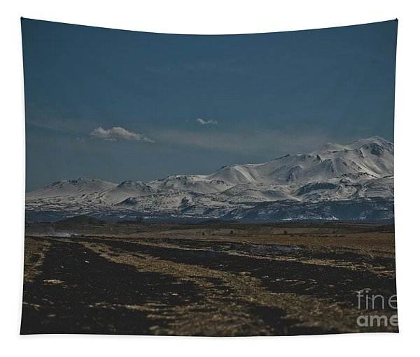 Snow-covered Mountains In The Turkish Region Of Capaddocia. Tapestry