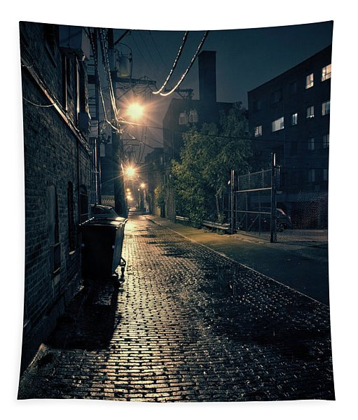 Vintage Chicago Alley Tapestry