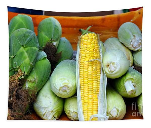 Fresh Corn Cobs Tapestry