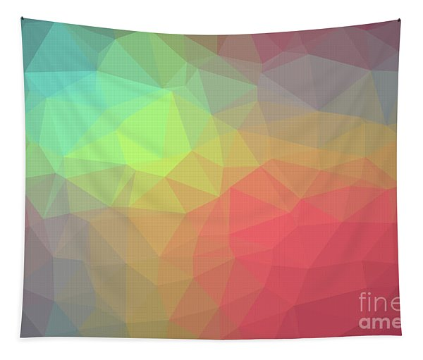 Gradient Background With Mosaic Shape Of Triangular And Square C Tapestry