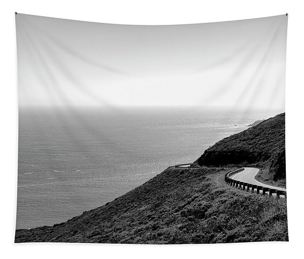 View Of Curving Coastal Road, Marin Tapestry