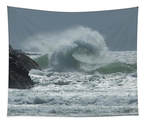 Waves In The Pacific Ocean, Coral Sea Tapestry