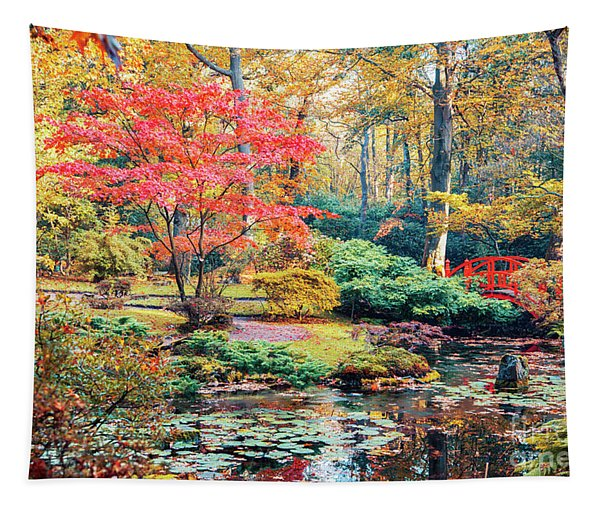 autumn in Japanese park Tapestry