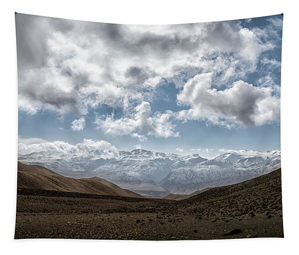 Landscape With Mountain Range Tapestry