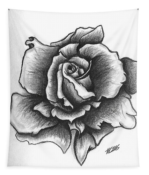 A Single Rose Tapestry