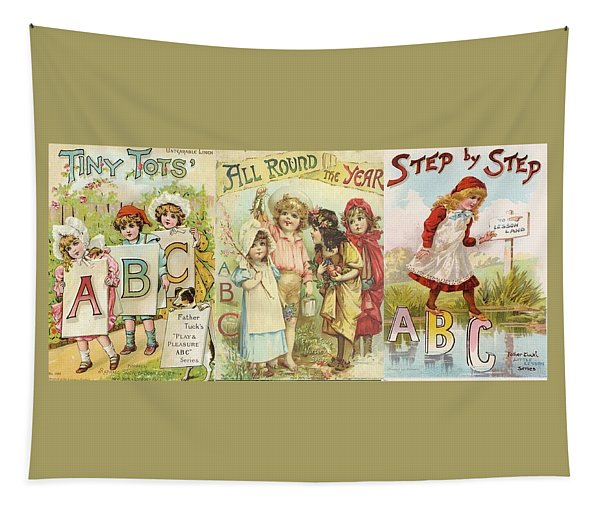 Abc Book Cover 7 For Mugs Tapestry