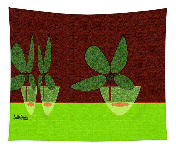 Abstract Floral Art 385 Tapestry