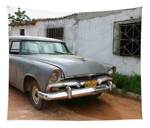 Antique Car Grey Cuba 11300501 Tapestry