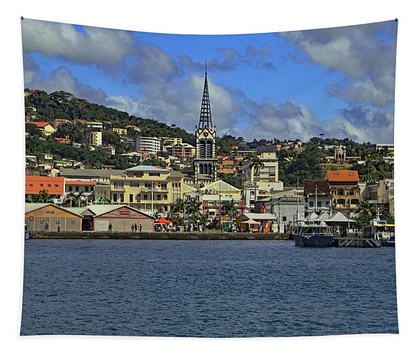 Approaching Fort De France Tapestry