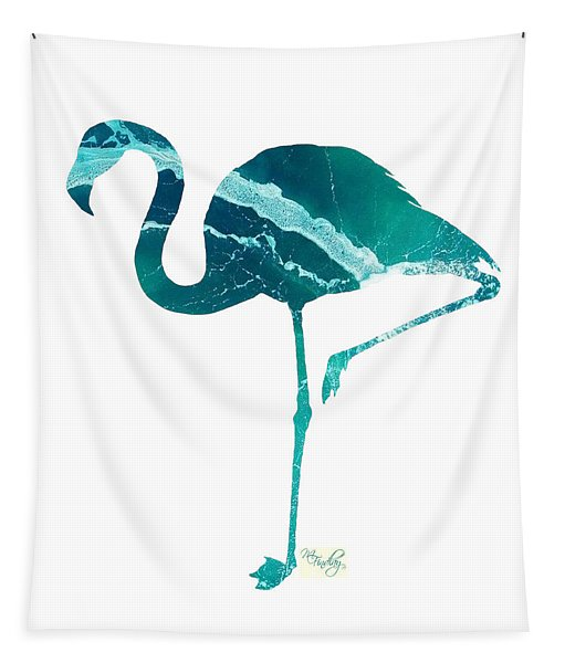 Art Sea Flamingo In Turquoise Tapestry