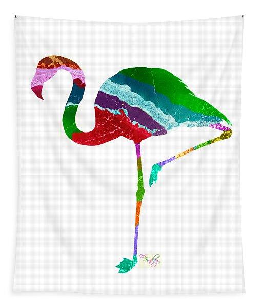 Art Sea Flamingo - Multicoloured Tapestry