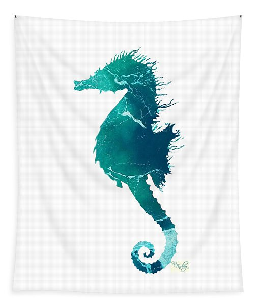 Art Sea Seahorse In Turquoise Tapestry