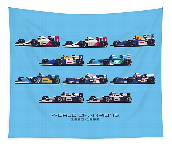 F1 World Champions 1990s - Blue Tapestry