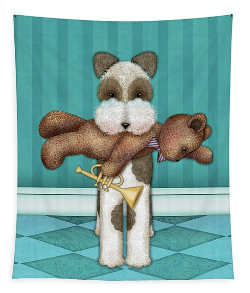 T Is For Terrier And Teddy Tapestry