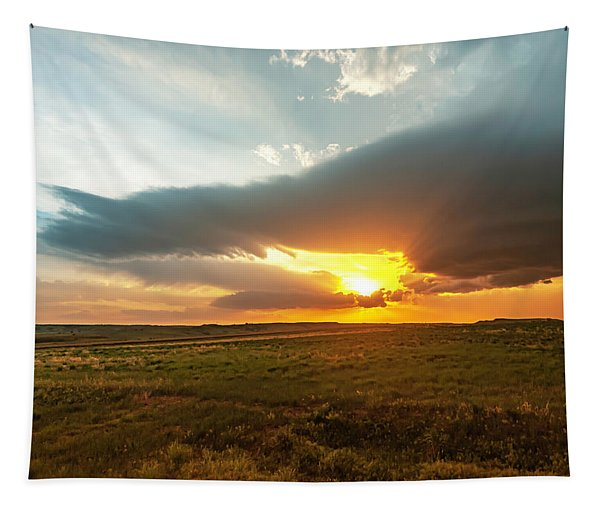 As The Sun Is Setting Tapestry