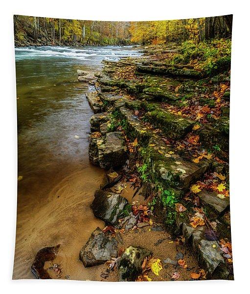 Autumn At Cherry Falls Elk River Tapestry