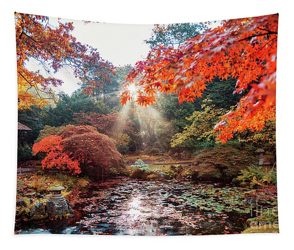 autumn in Japanese park, the Hague Tapestry
