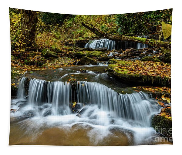 Barton Mill Run Waterfalls Tapestry