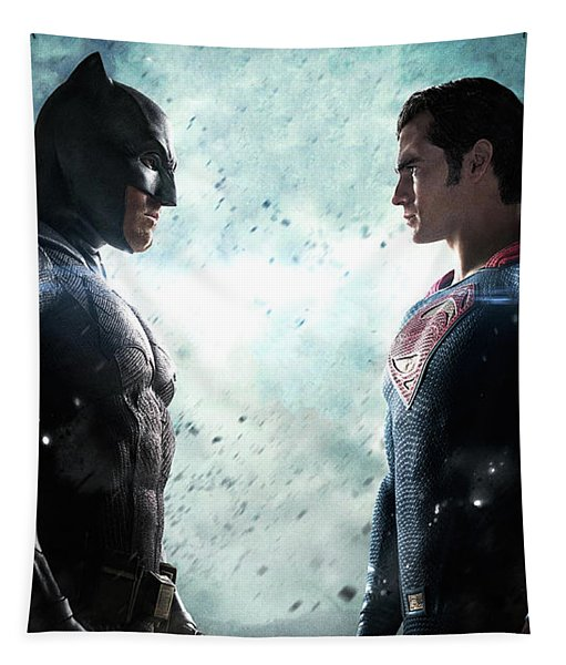Batman V Superman Dawn Of Justice Textless Poster Tapestry