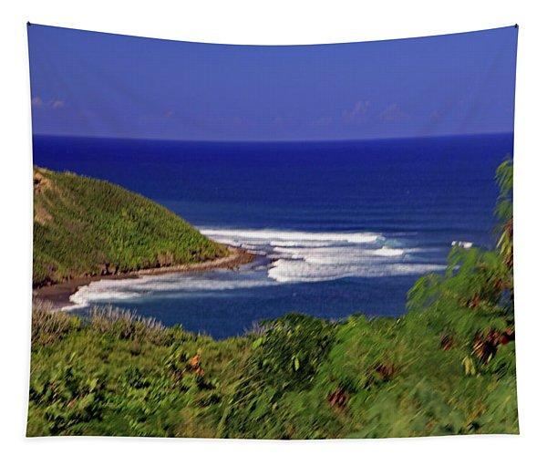 Bay In St Kitts Tapestry