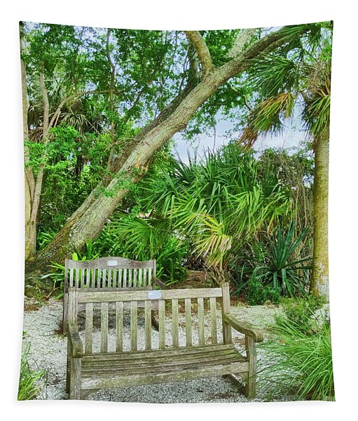Bench View Tapestry