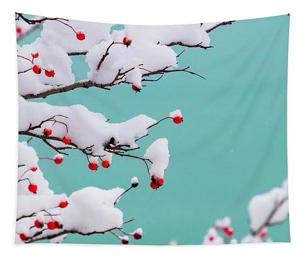 Berries And Cream Tapestry