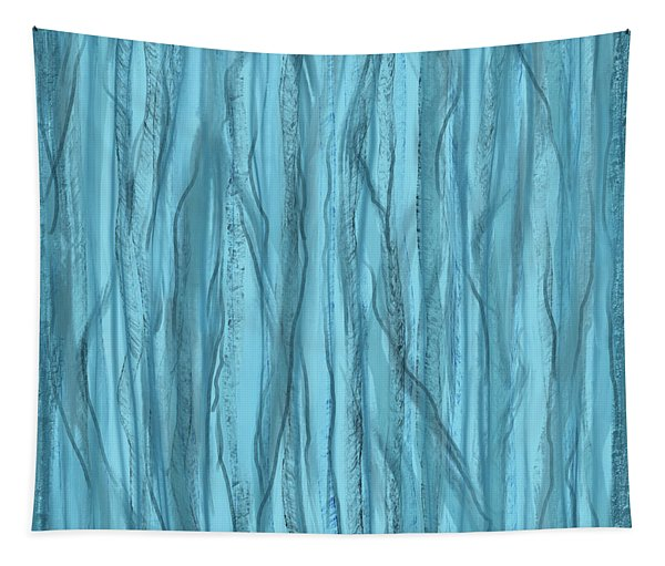 Birch Trees In Blue Light Tapestry