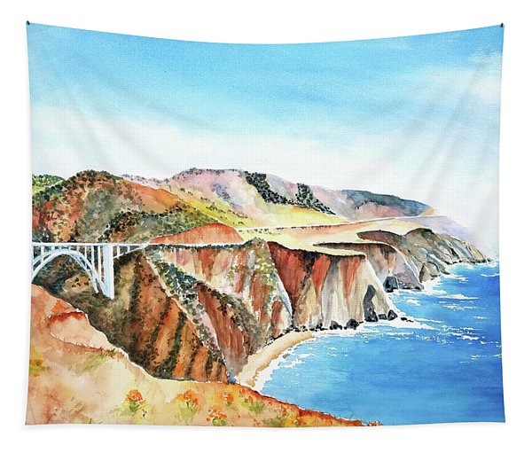Bixby Bridge 3 Big Sur California Coast Tapestry