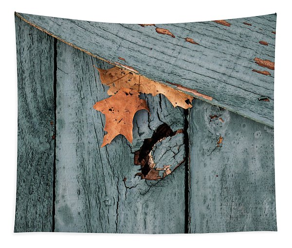 Blue Fence Tapestry