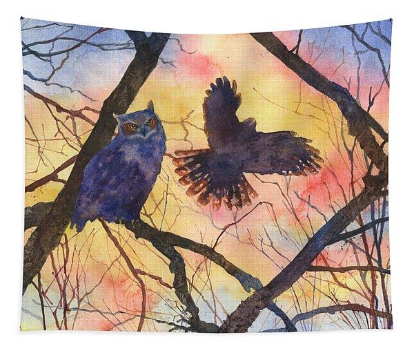 Blue Owl Tapestry
