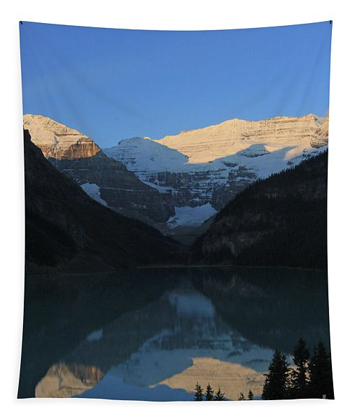 Blue Sky At Lake Louise Tapestry