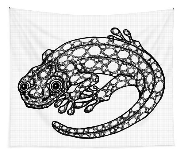 Blue Spotted Salamander Tapestry