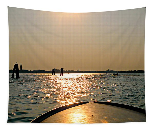 Boat Ride To Venice Tapestry