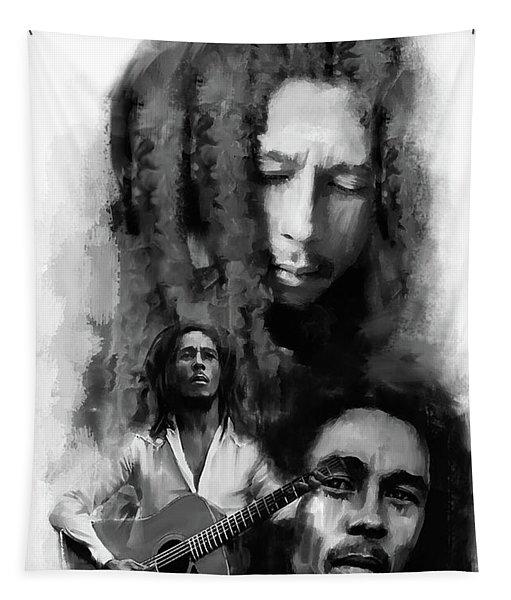 Bob Marley Inspiriting Tapestry