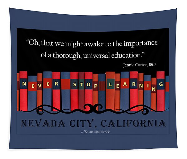 Books Never Stop Learning Tapestry