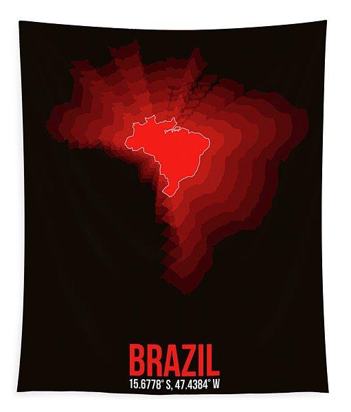 Brazil Radiant Map 3 Tapestry