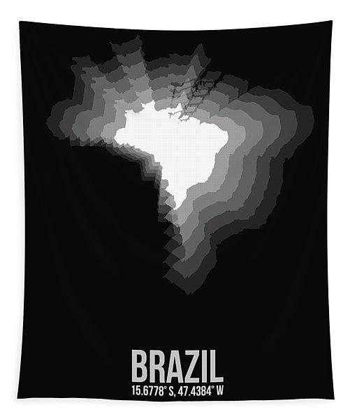 Brazil Radiant Map 4 Tapestry