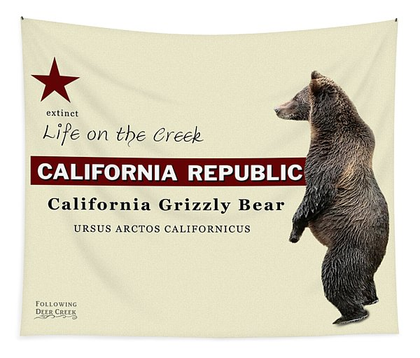 California Grizzly Tapestry