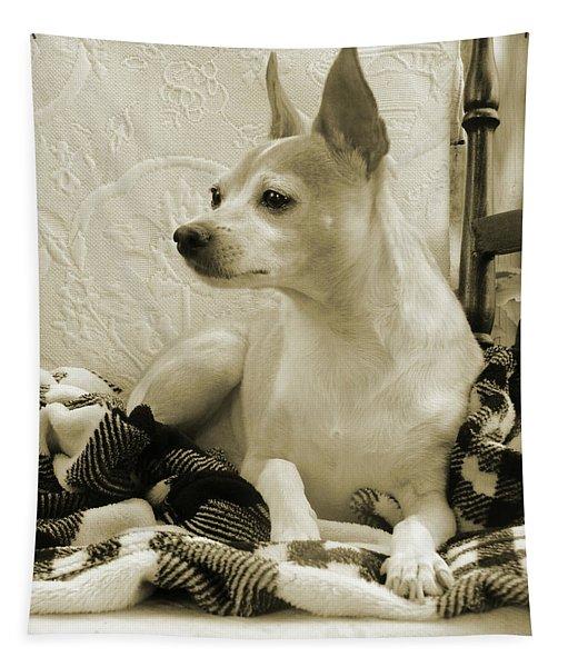 Chihuahua Chiqui  Portrait  Tapestry