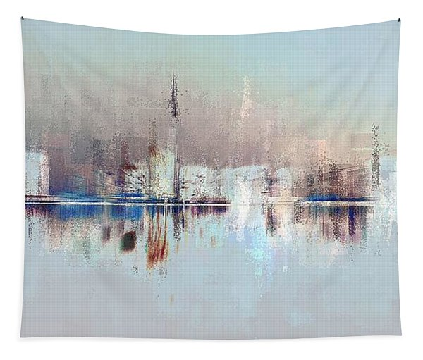 City Of Pastels Tapestry