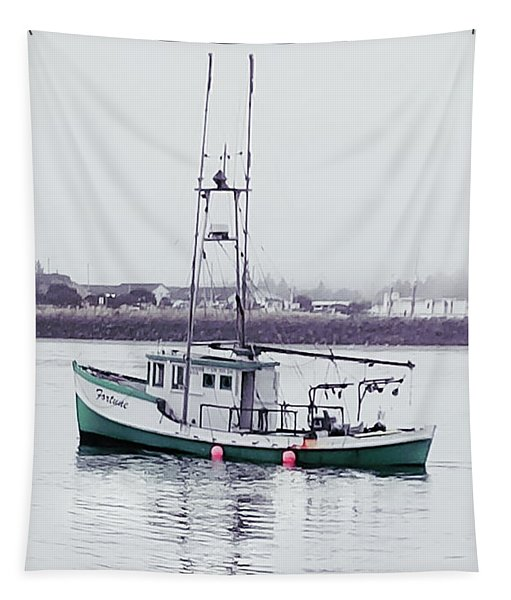 Fishing Boat Coming Home Tapestry