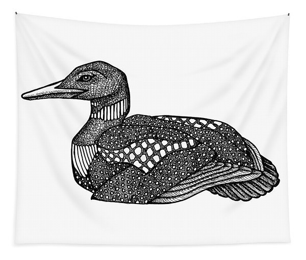 Common Loon Tapestry