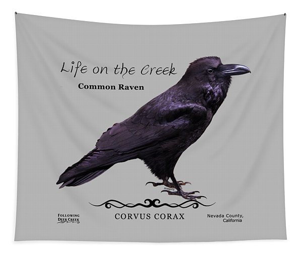 Common Raven Tapestry