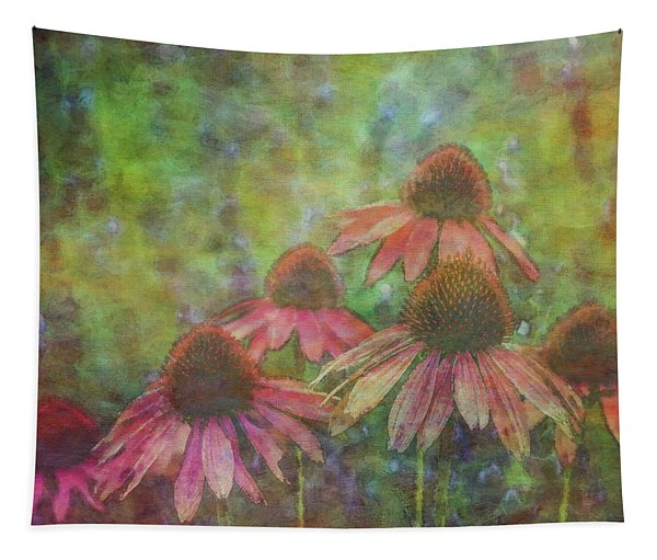 Coneflowers Among The Lavender 1667 Idp_2 Tapestry