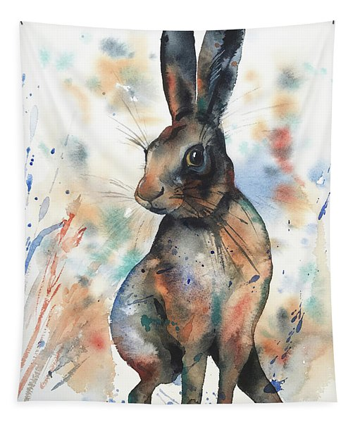 Curious Hare Tapestry